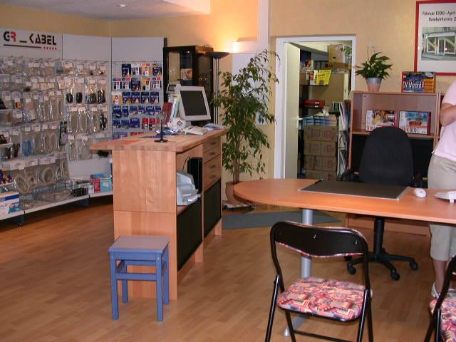Eingangsbereich des Verkaufsraumes